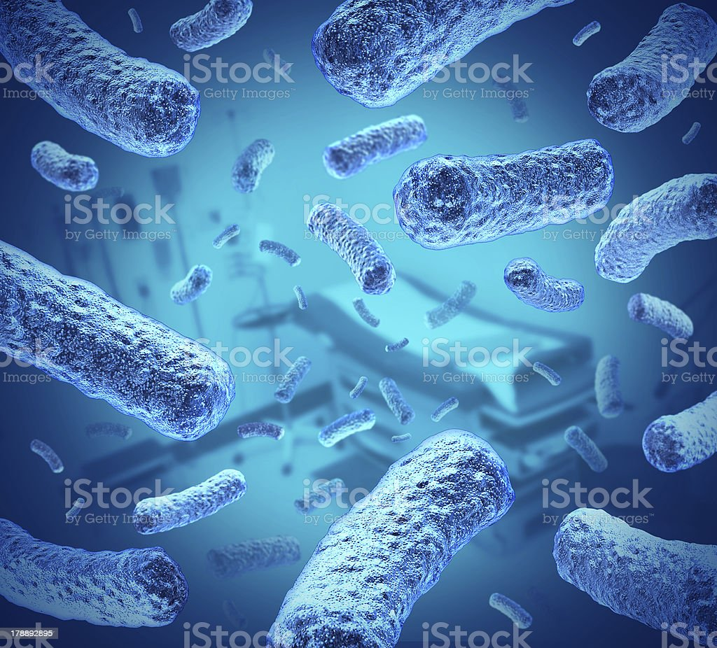 Hospital Germs stock photo