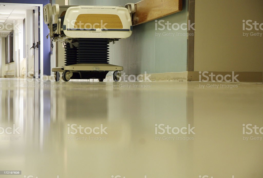Hospital Hall background stock photo