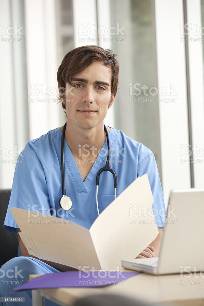 Hospital - Handsome Doctor stock photo