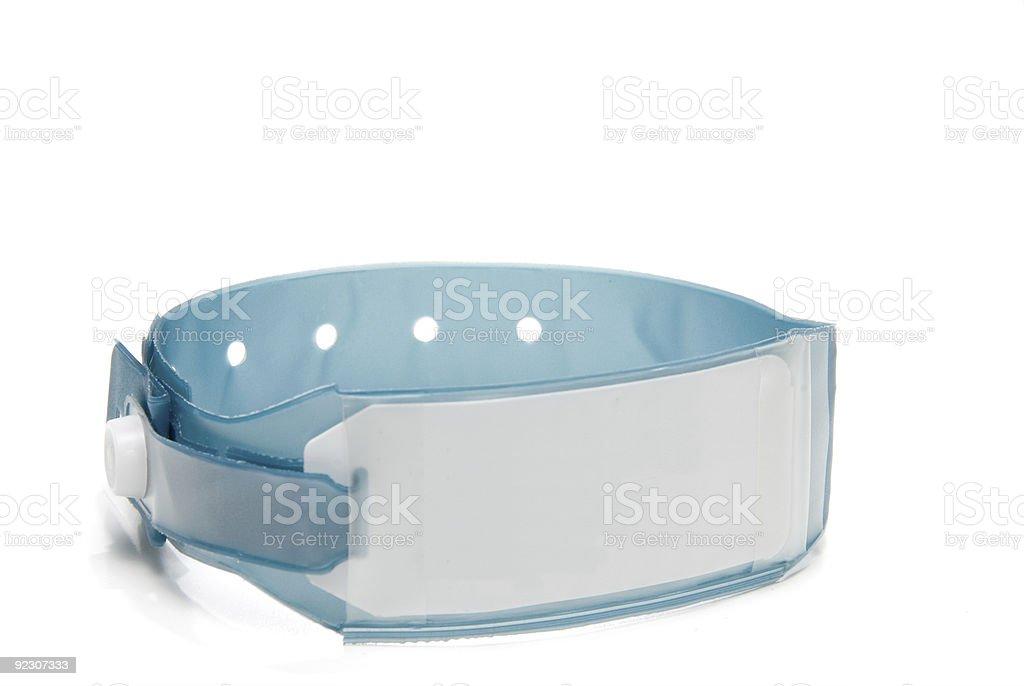 Hospital ID Bracelet stock photo