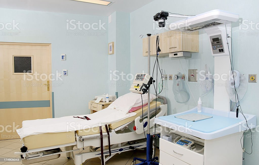 Hospital interior - delivery room stock photo