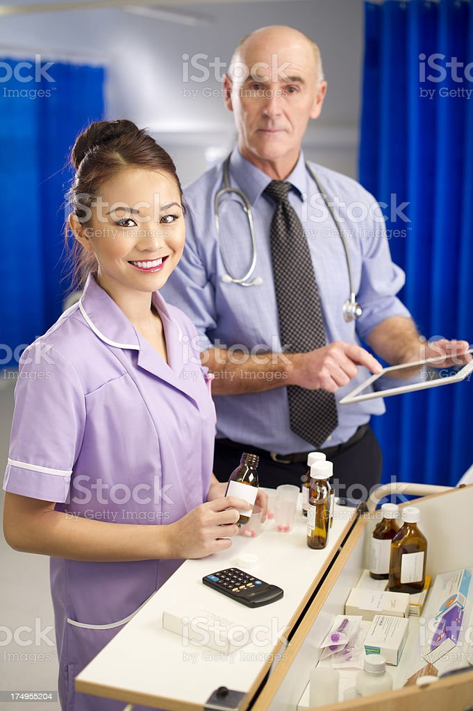 hospital medicine trolley royalty-free stock photo