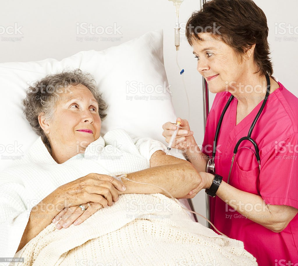 Hospital Nurse Gives Injection royalty-free stock photo
