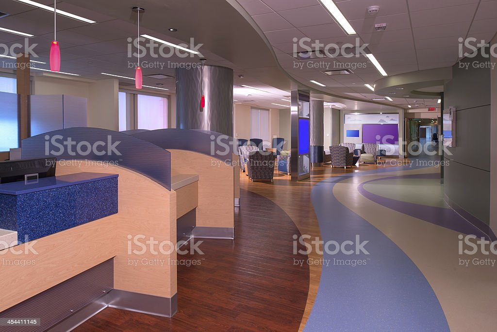 Hospital Nurses Station stock photo