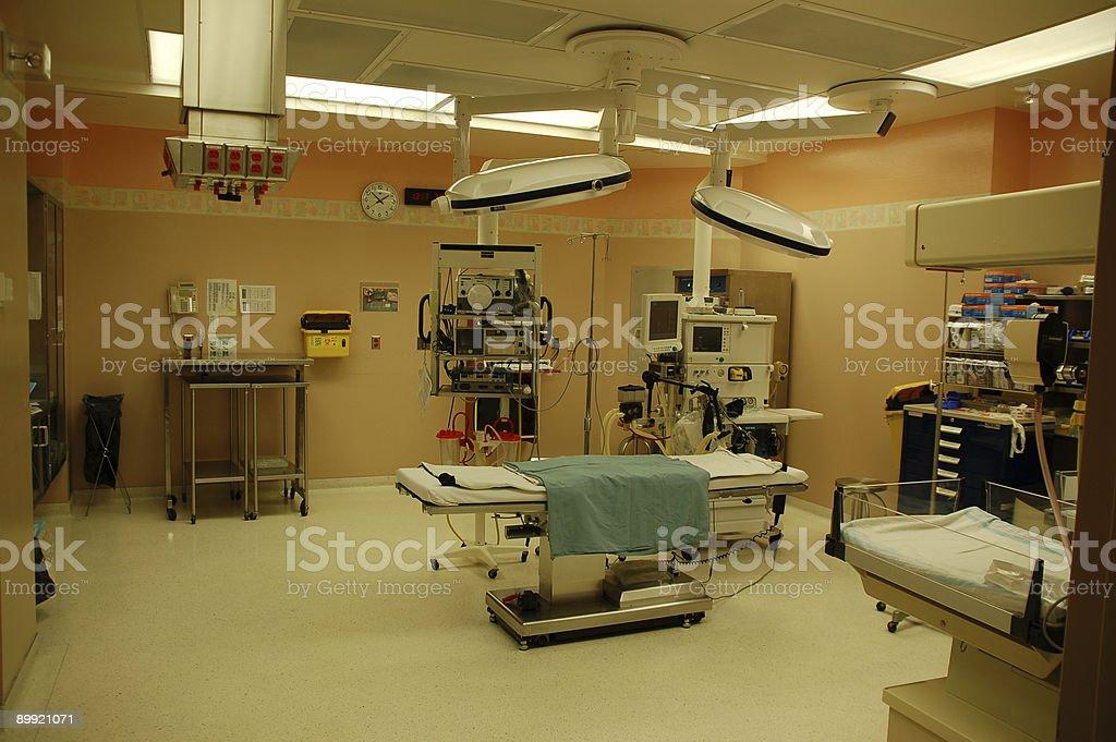 Hospital operating room stock photo
