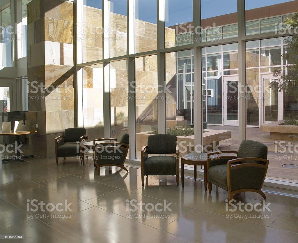 Hospital or Hotel Atrium, Office Park royalty-free stock photo