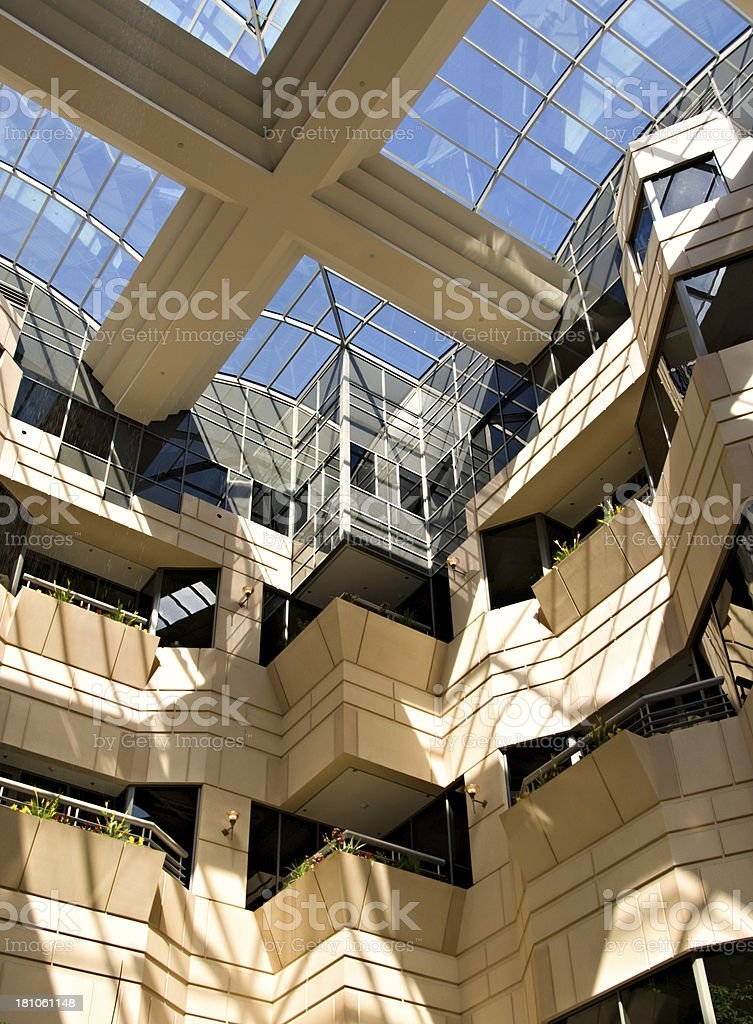 Hospital or Hotel Atrium, Office Park stock photo