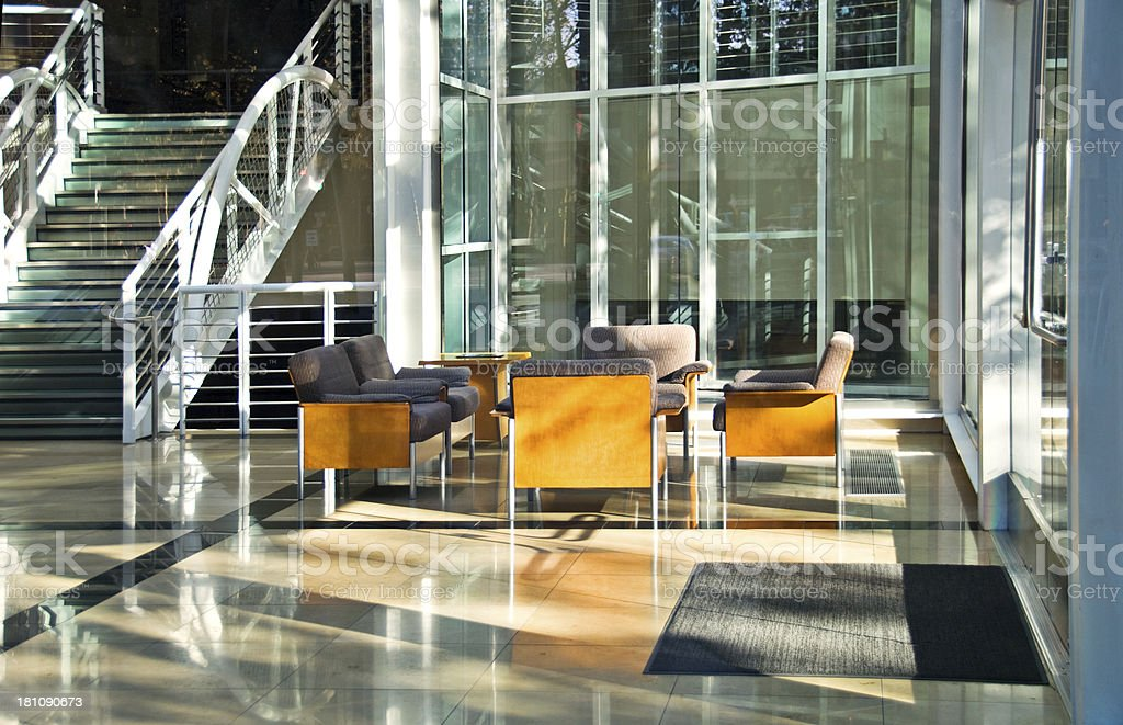 Hospital or Hotel Atrium, Office Park royalty-free stock photo