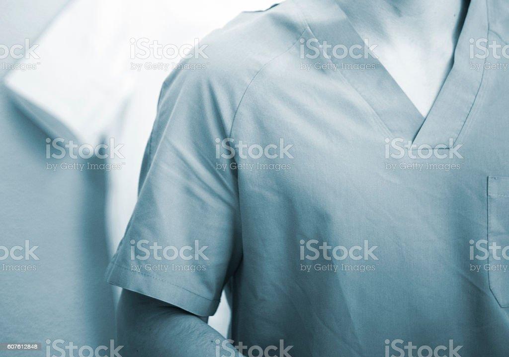 Hospital physiotherapist in uniform stock photo
