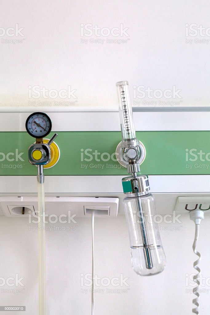 Hospital Room Equipment (Oxygen) stock photo