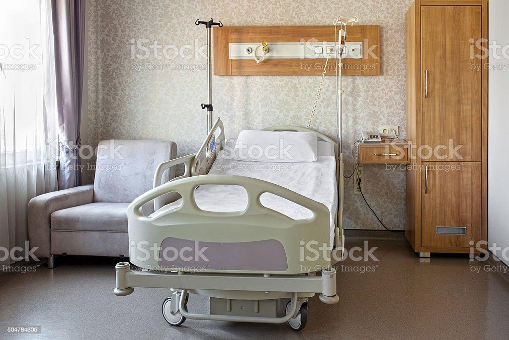Hospital room interior stock photo