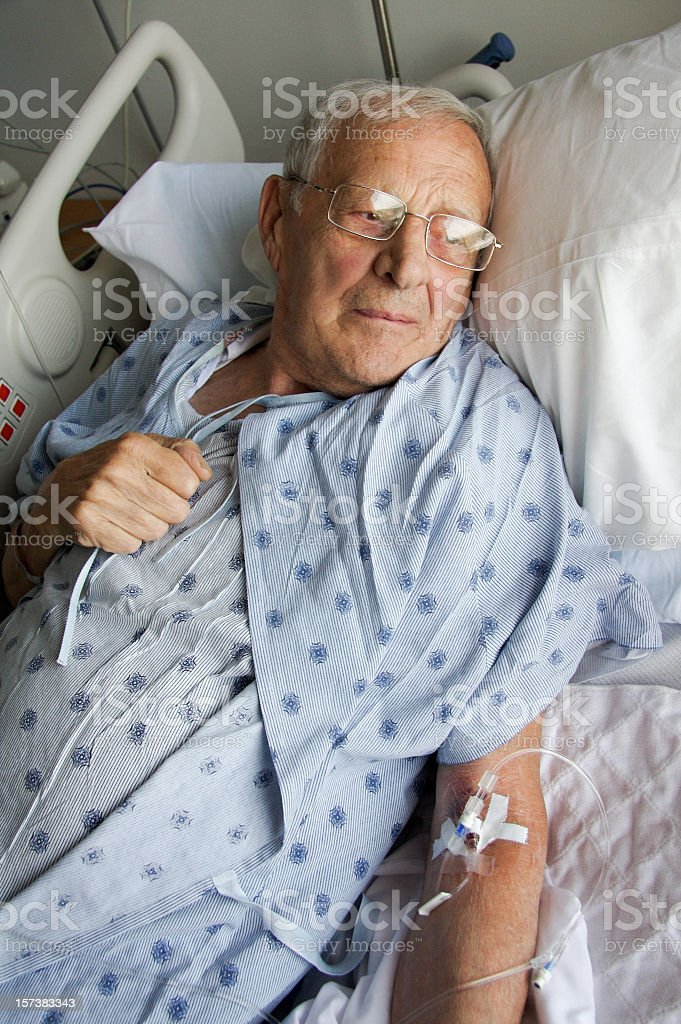 Hospital stay stock photo