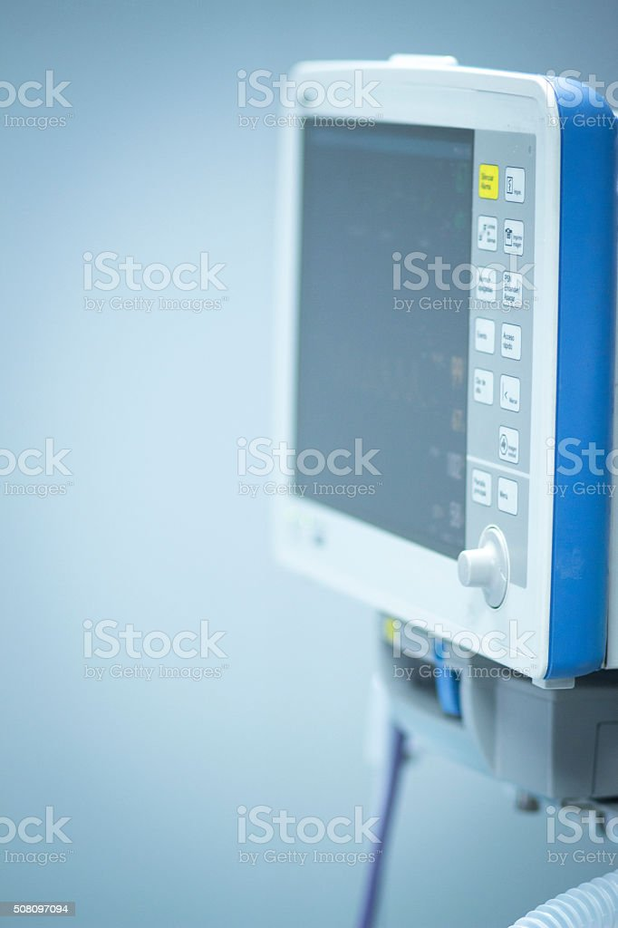 Hospital surgery heart rate monitor screen stock photo