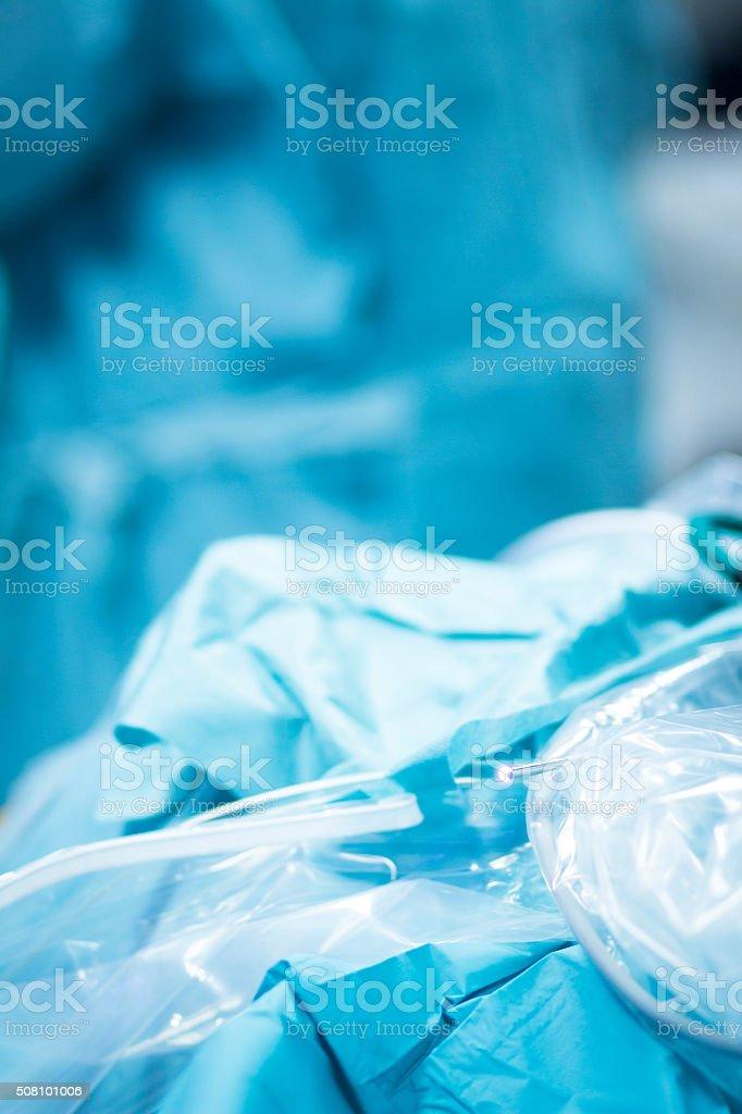 Hospital surgery operating room equipment stock photo