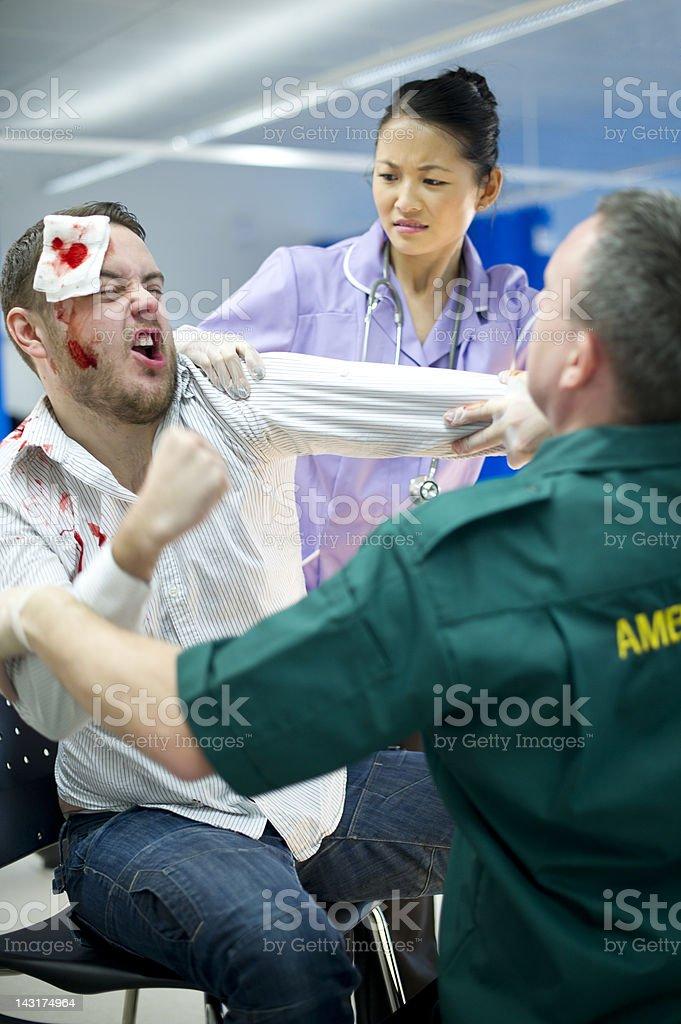 hospital violence stock photo