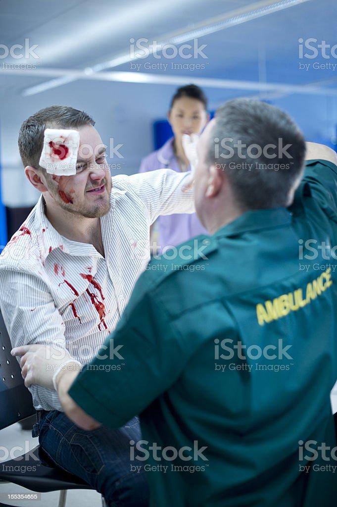 hospital violence royalty-free stock photo