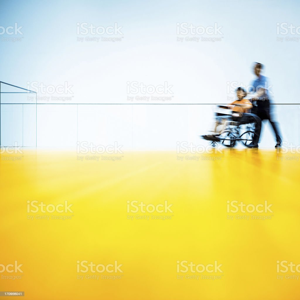 Hospital Wheelchair Access stock photo