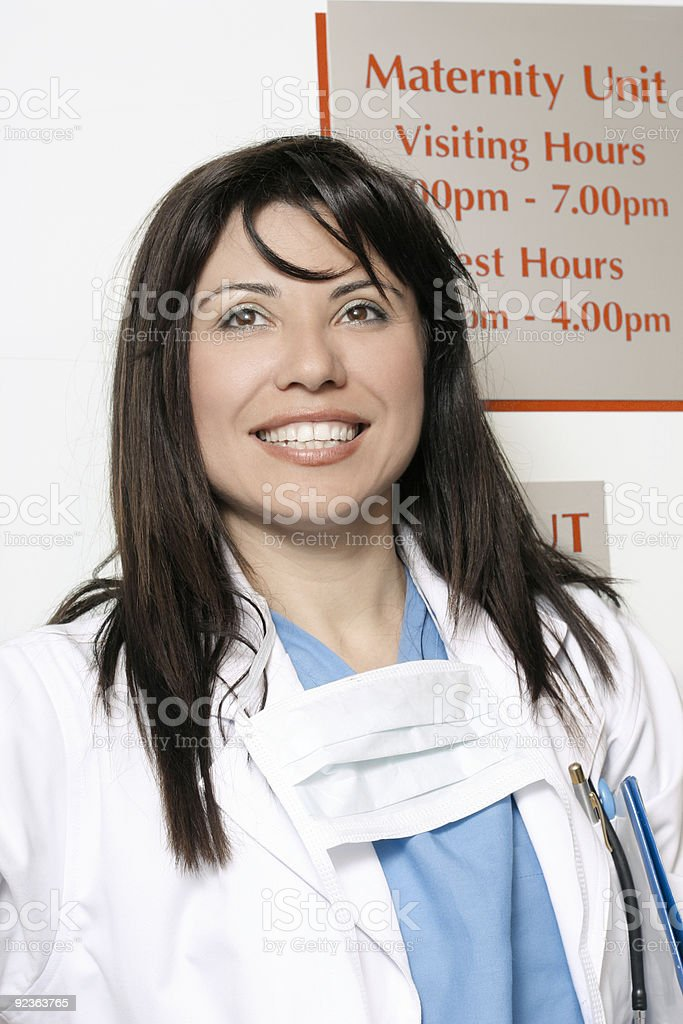 Hospital worker in Maternity ward royalty-free stock photo