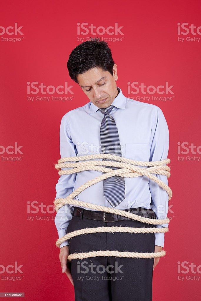 Hostage businessman royalty-free stock photo