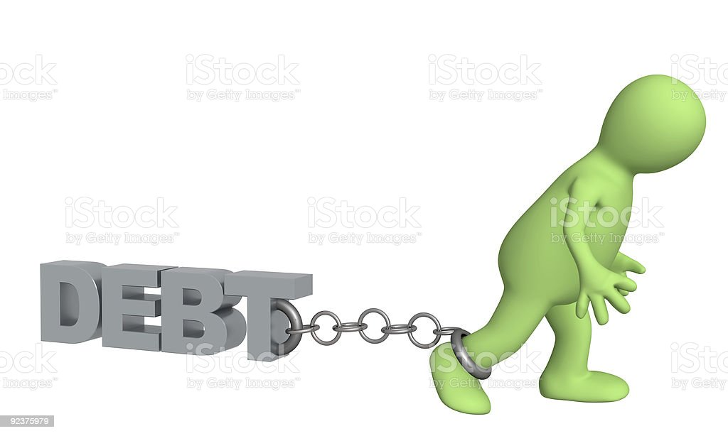 Hostage of the debt royalty-free stock photo