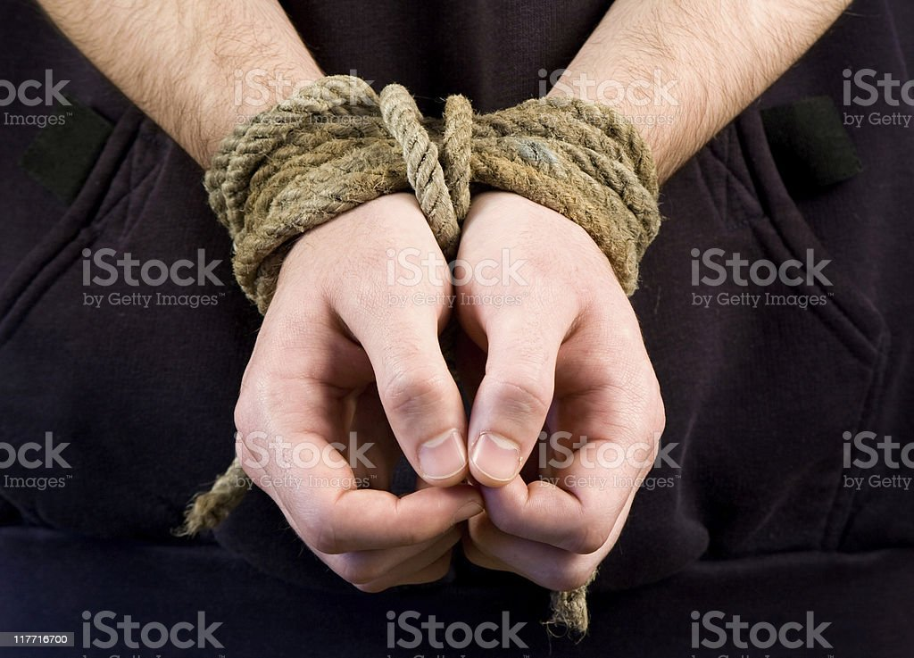 Hostage stock photo