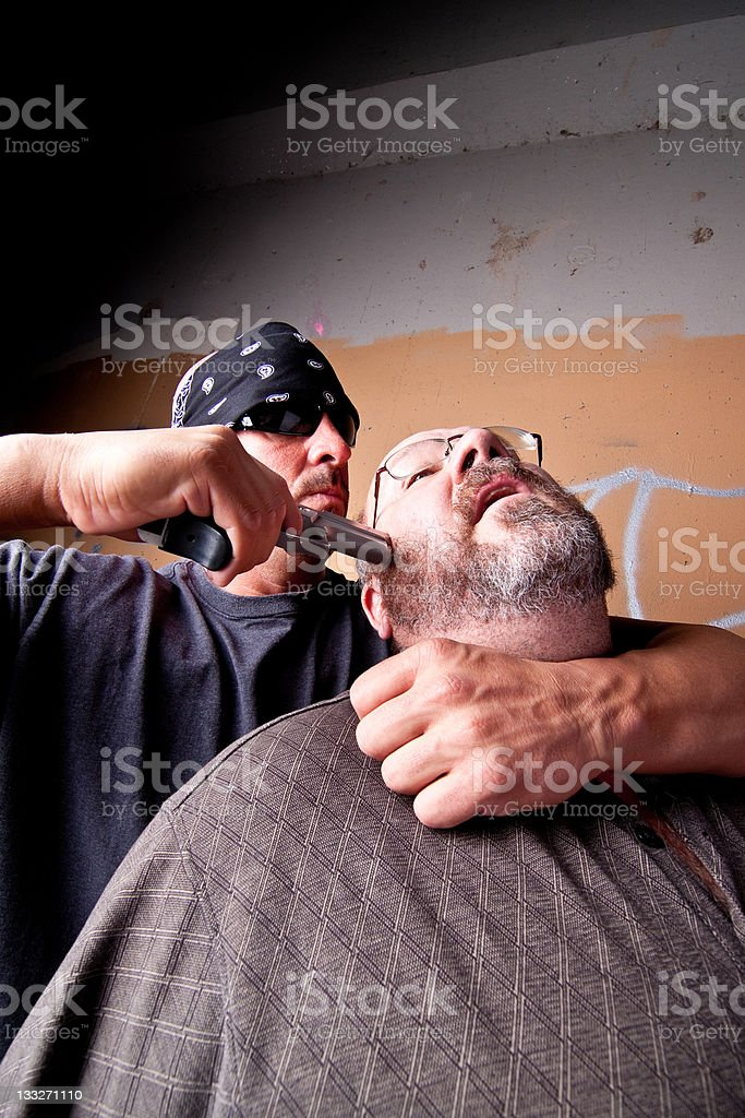 Hostage situation royalty-free stock photo