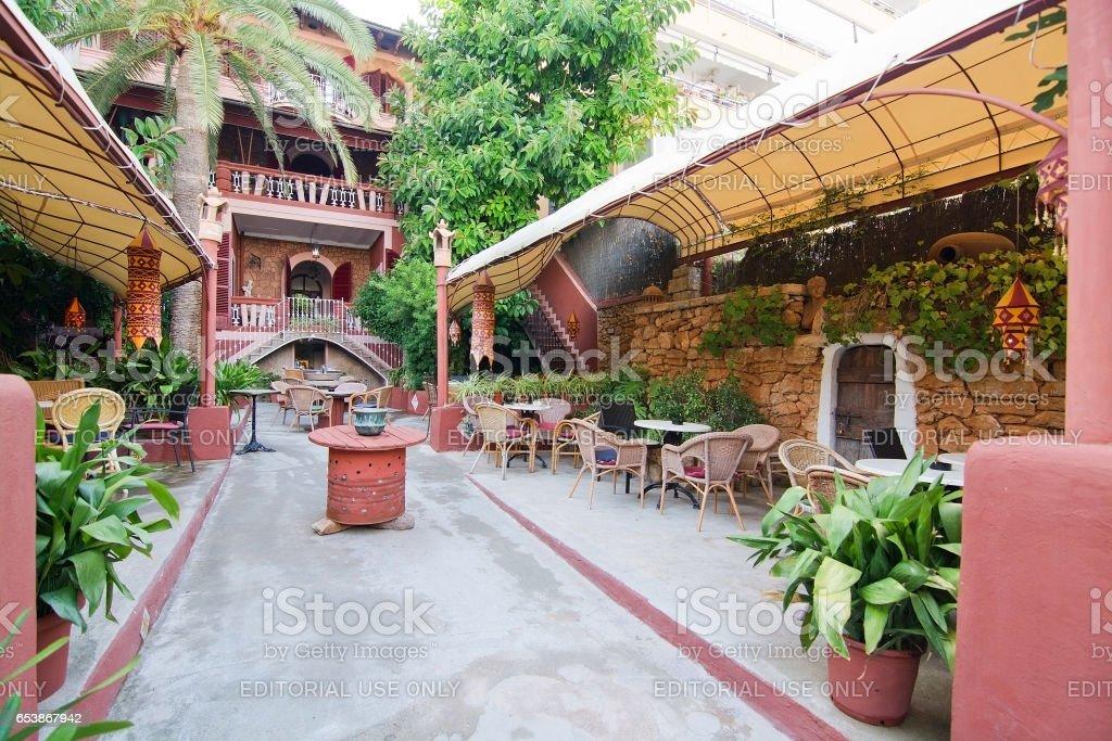 Hostal Corona bar stock photo