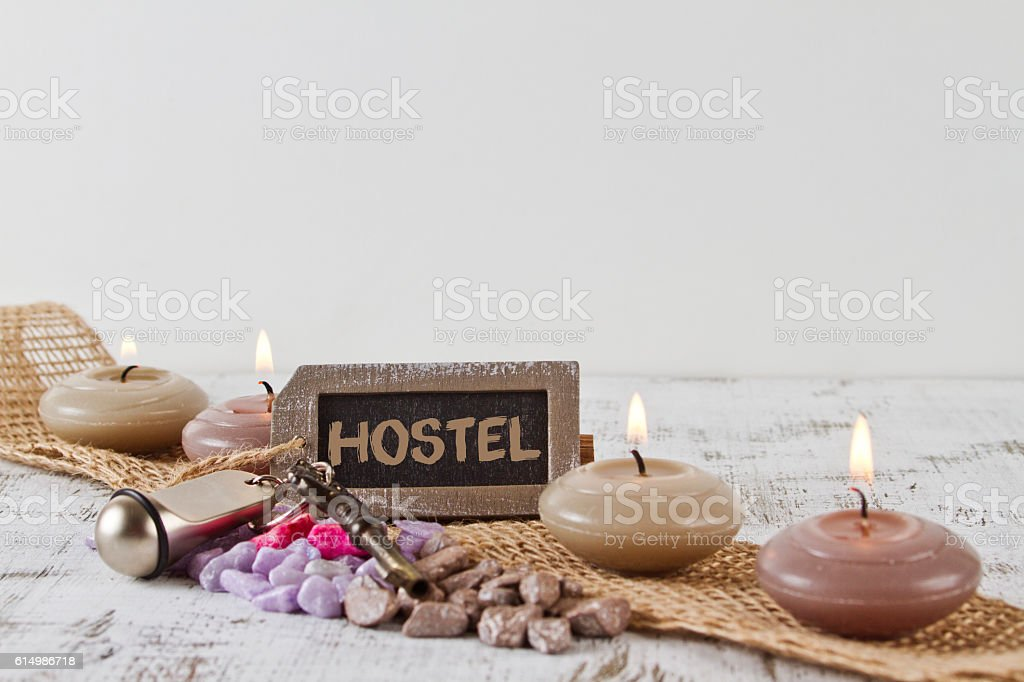 Hostel concept stock photo
