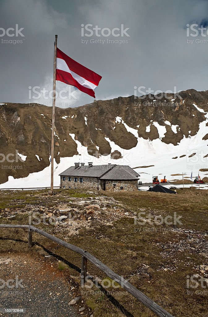 Hostel in Alps royalty-free stock photo