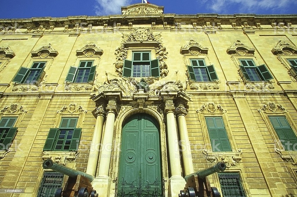 Auberge de Castille, Valletta royalty-free stock photo