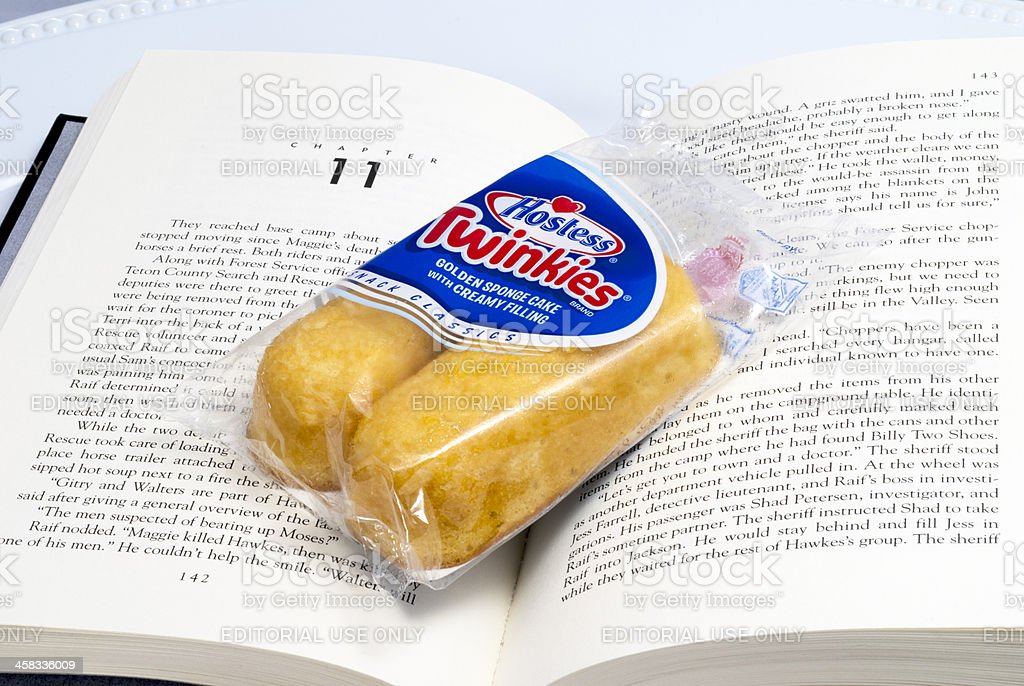 Hostess Chapter eleven twinkies packaged stock photo