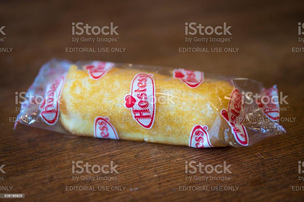 Hostess Twinkie Cake stock photo
