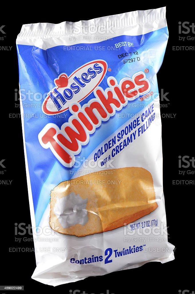 Hostess Twinkies Golden Sponge Cake From Vending Machine stock photo