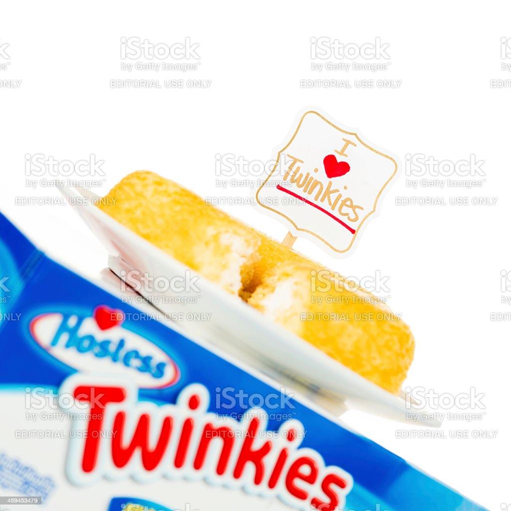 I LOVE Hostess Twinkies! stock photo