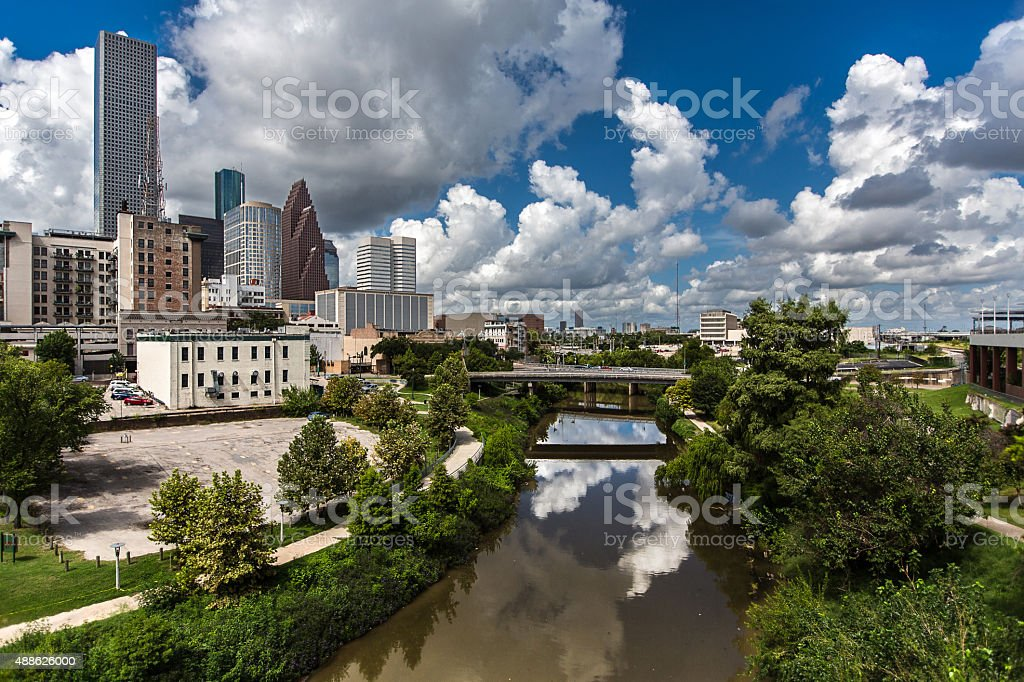 Hot afternoon in Houston, TX stock photo