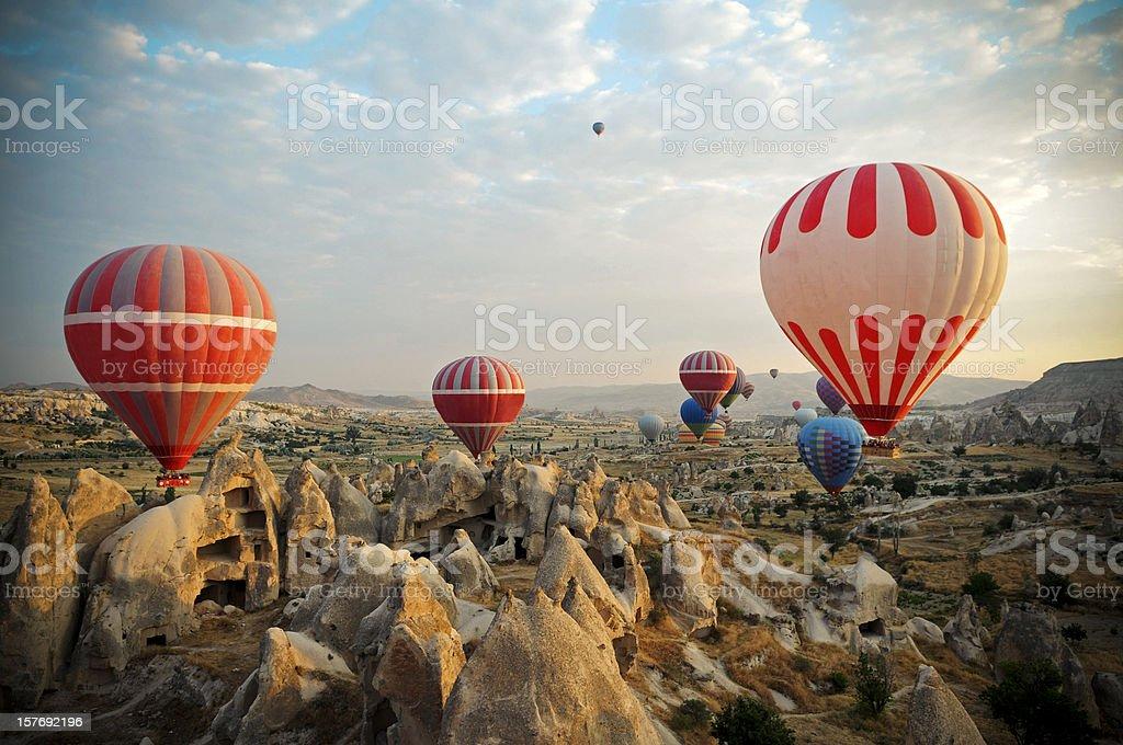 Hot Air Ballons of Cappadocia royalty-free stock photo