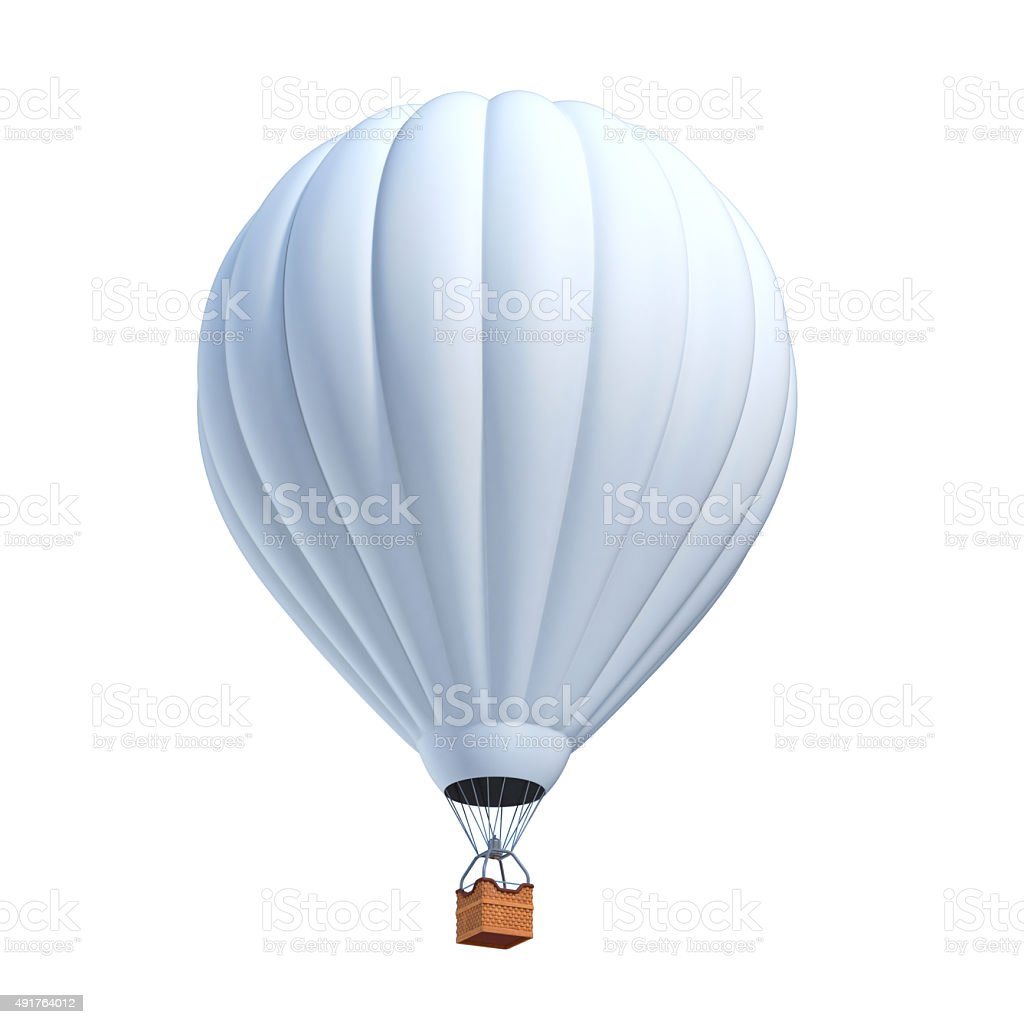 hot air balloon 3d illustration stock photo