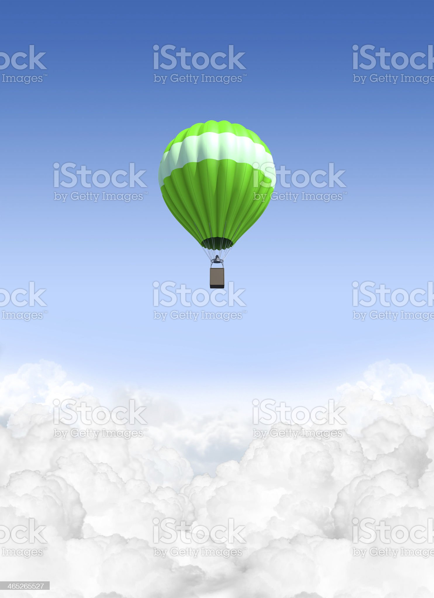 Hot Air Balloon Above The Clouds royalty-free stock photo