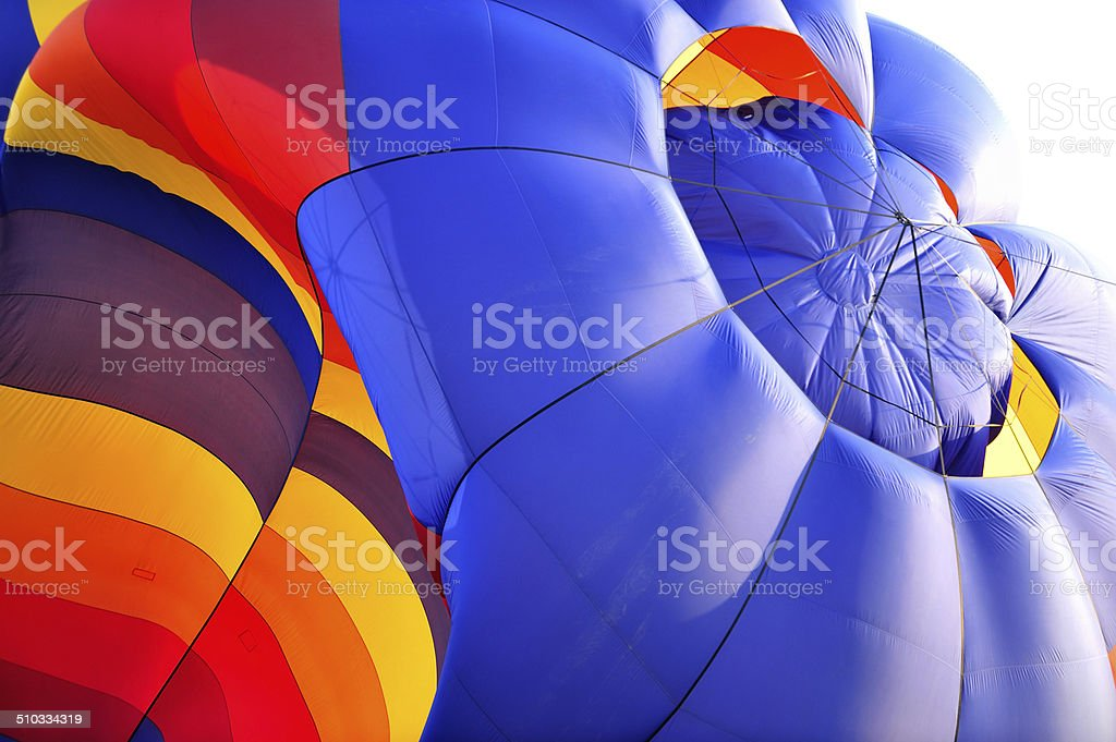 Hot Air Balloon abstract stock photo
