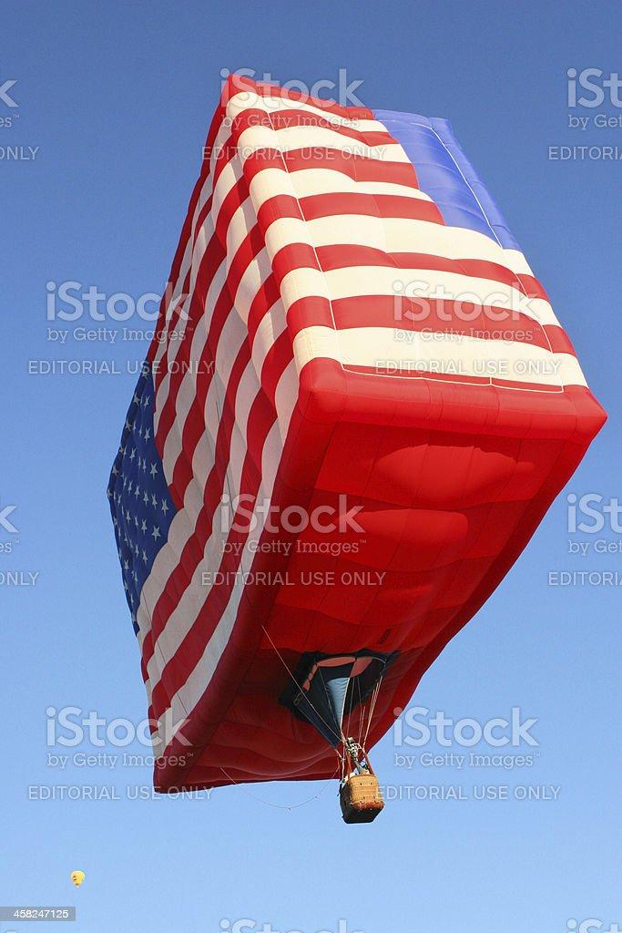 Hot Air Balloon American Flag royalty-free stock photo