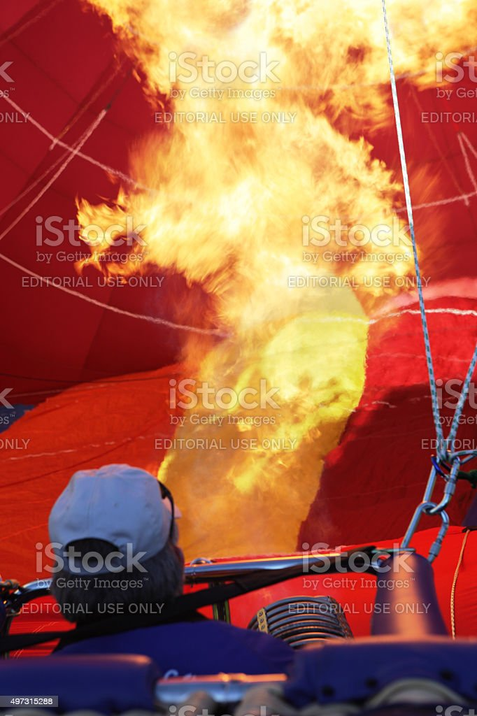 Hot Air Balloon Burner Flame stock photo
