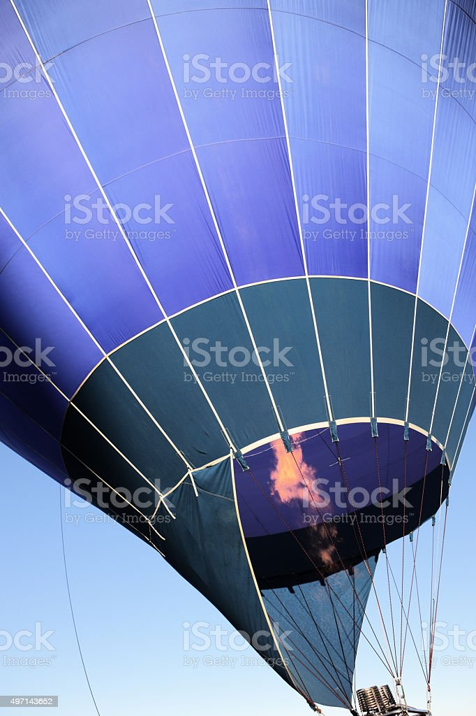 Hot Air Balloon Burner Inflating stock photo