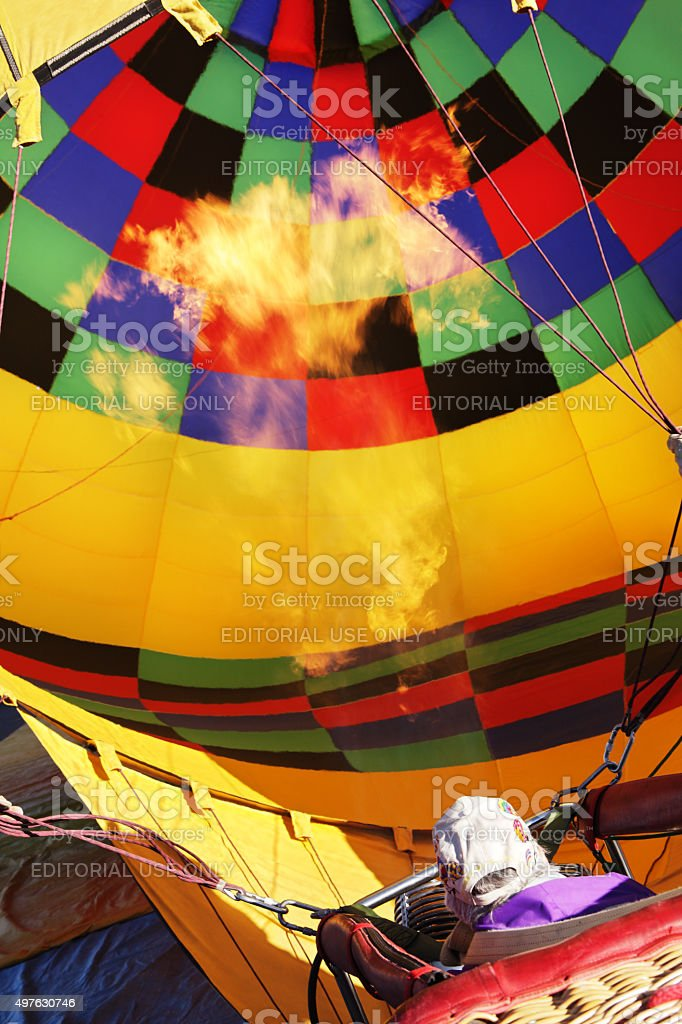 Hot Air Balloon Burner Inflation stock photo