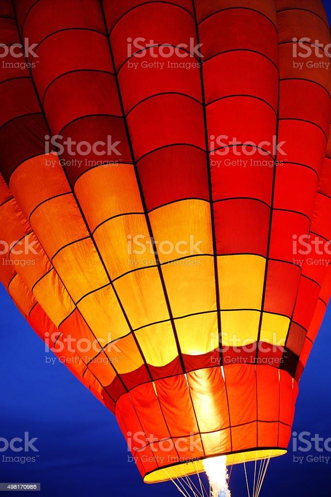 Hot Air Balloon Burner Night Flame stock photo
