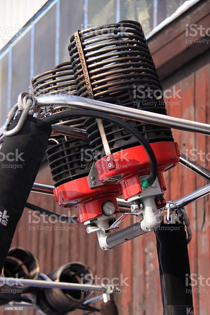 Hot air balloon burner stock photo
