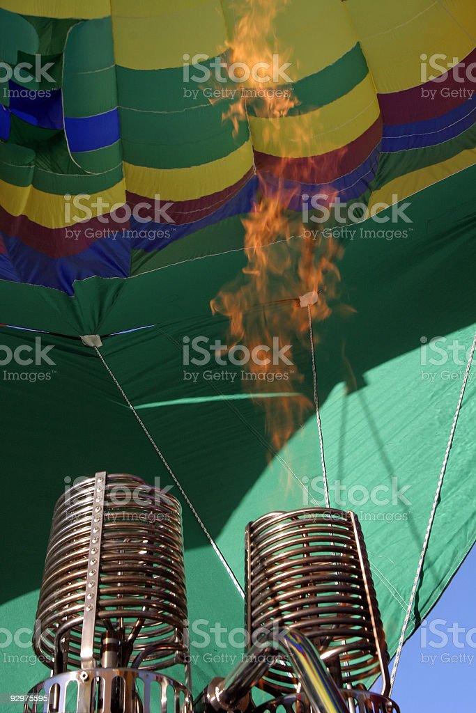 Hot Air Balloon burners firing royalty-free stock photo