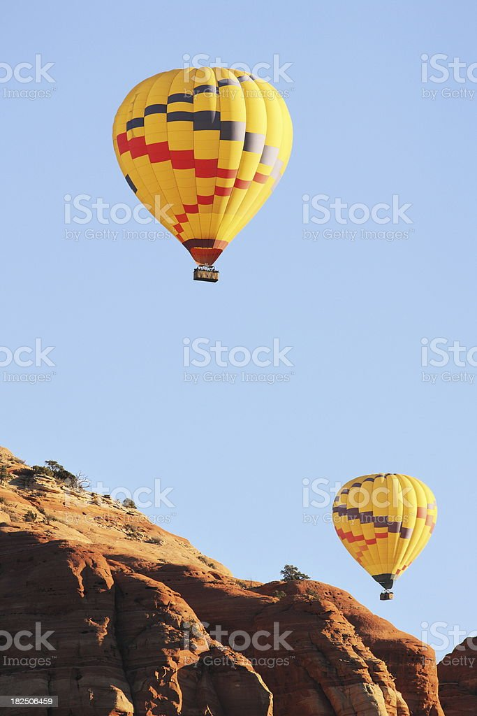 Hot Air Balloon Butte Flight royalty-free stock photo
