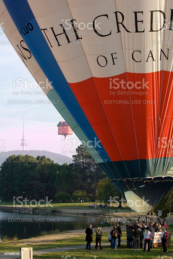 Hot air balloon Canberra stock photo