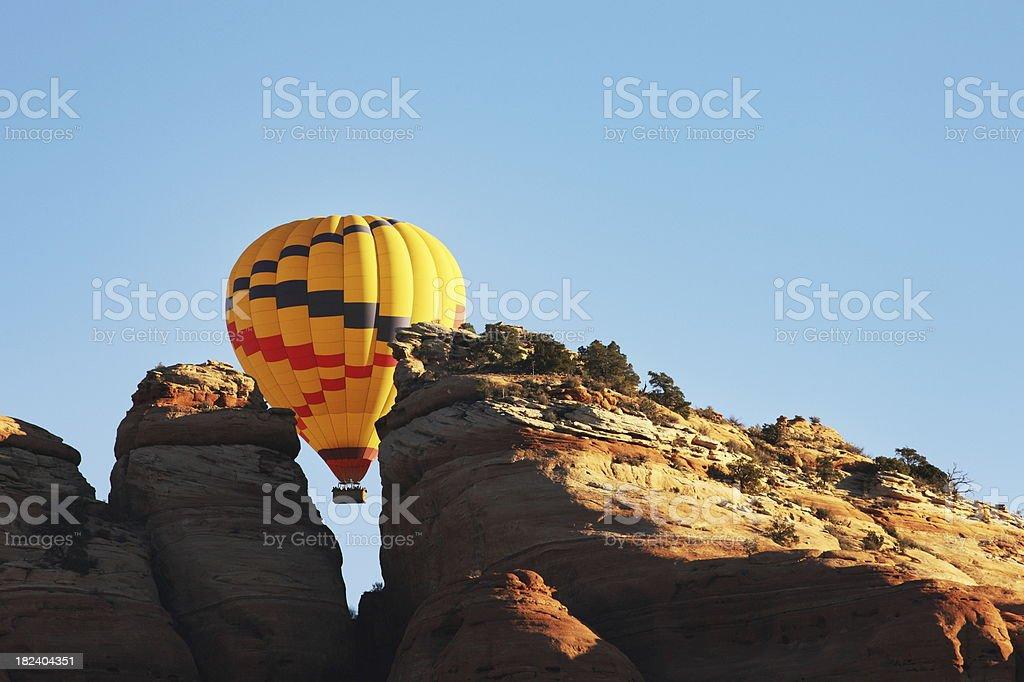 Hot Air Balloon Crag Flight royalty-free stock photo