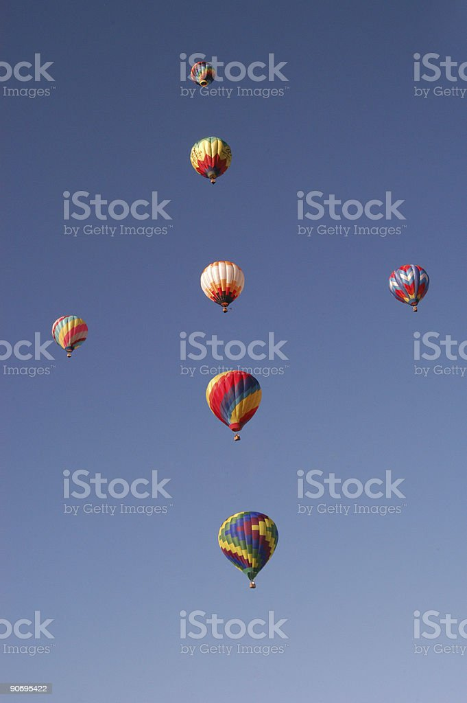 Hot Air Balloon Cross royalty-free stock photo